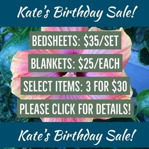 Other - Kate's Birthday Sale on Now!